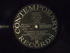 Ornette Coleman Tomorrow Is The Question! Contemporary Records LAX 3025