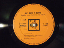 Load image into Gallery viewer, Miles Davis Miles Davis in Europe CBS YS-441-C