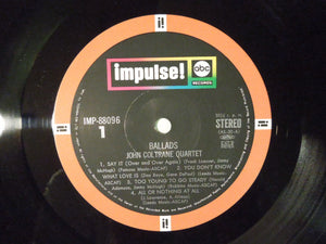 John Coltrane Quartet Ballads ABC Impulse! IMP-88096