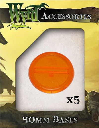 Orange 40mm Translucent Bases