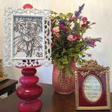 Sustainable floral decor   FRAMED CHIC