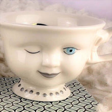 Load image into Gallery viewer, Original, non shattered vintage Baileys doll faced tea cup