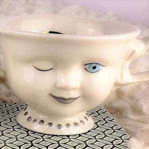 Original, non shattered vintage Baileys doll faced tea cup