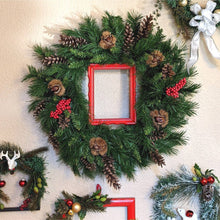 Load image into Gallery viewer, Red Frame Holiday Wreath