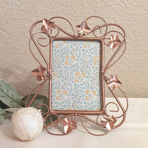 Copper picture frame, ivy leaf frame, copper home decor, sustainable home decor | FRAMED CHIC