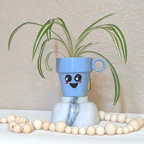 Upcycled planter, mug planter, plants for sale, face planter | FRAMED CHIC