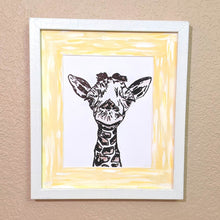 Load image into Gallery viewer, Baby Giraffe Face Framed Art