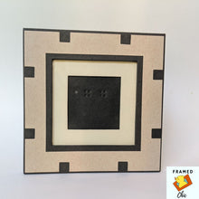 Load image into Gallery viewer, Black and Tan Block Picture Frame