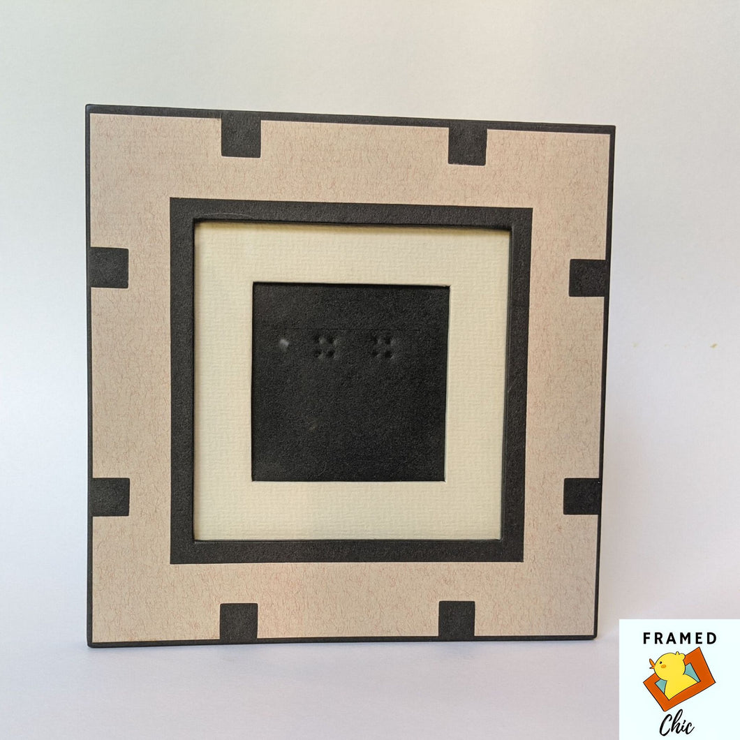Black and Tan Block Picture Frame