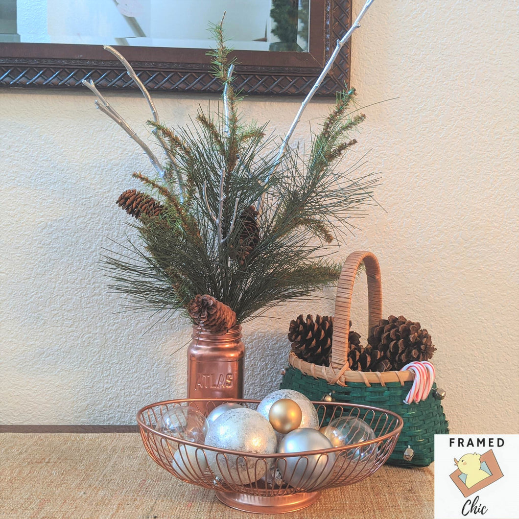 Copper Jar Faux Pine Arrangement