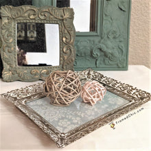 Load image into Gallery viewer, Lacy Gold Vintage Jewelry Tray