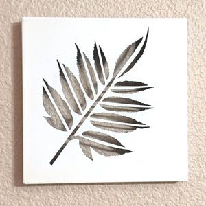 Light up your life with backlit wall art, leaf wall art, biophilic design, leaf art, light up art, nature art, leaf art metal, leaf decor, plant decor, upcycled frames, green light up art, green art | FRAMED CHIC