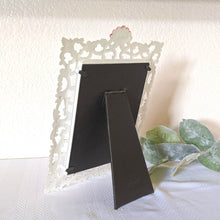 Load image into Gallery viewer, Ornate White Metal Vintage Frame