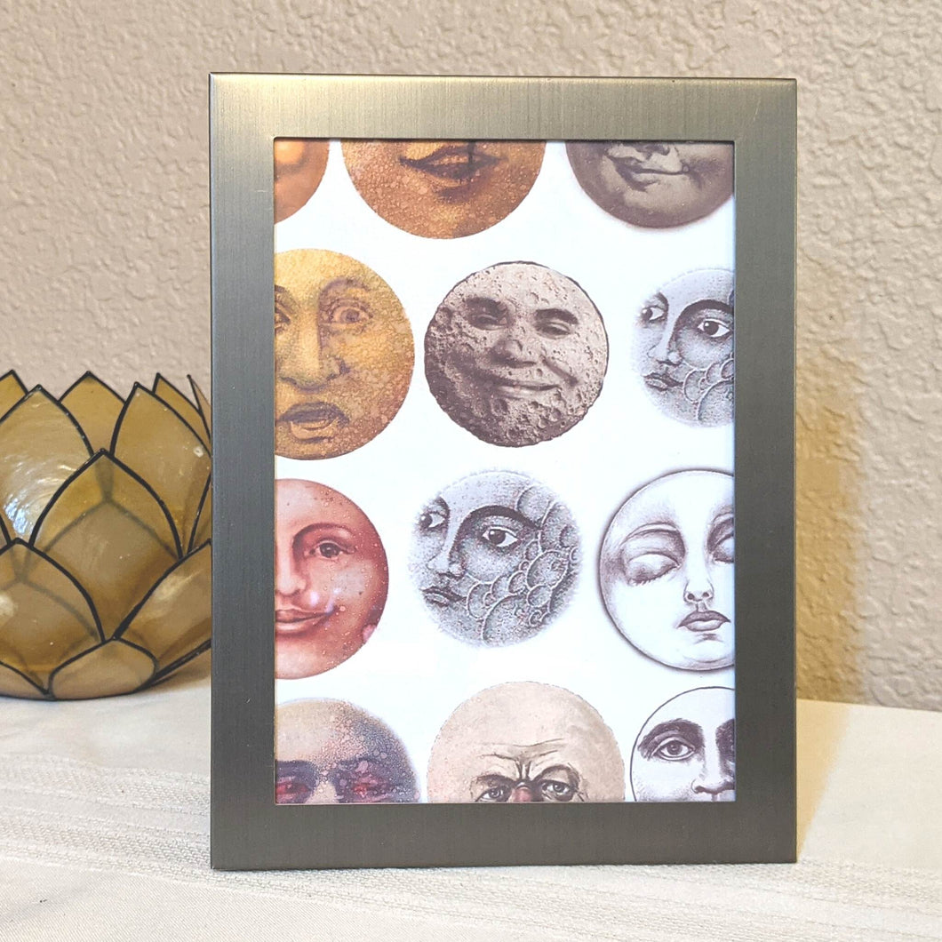 Sweet Old Moon Brushed Metal Frame