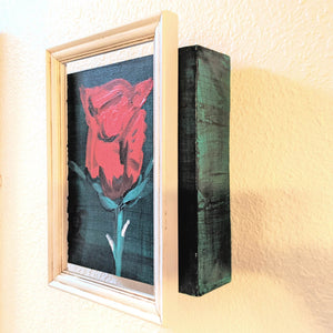 Red Rose on canvas (side) | FRAMED CHIC