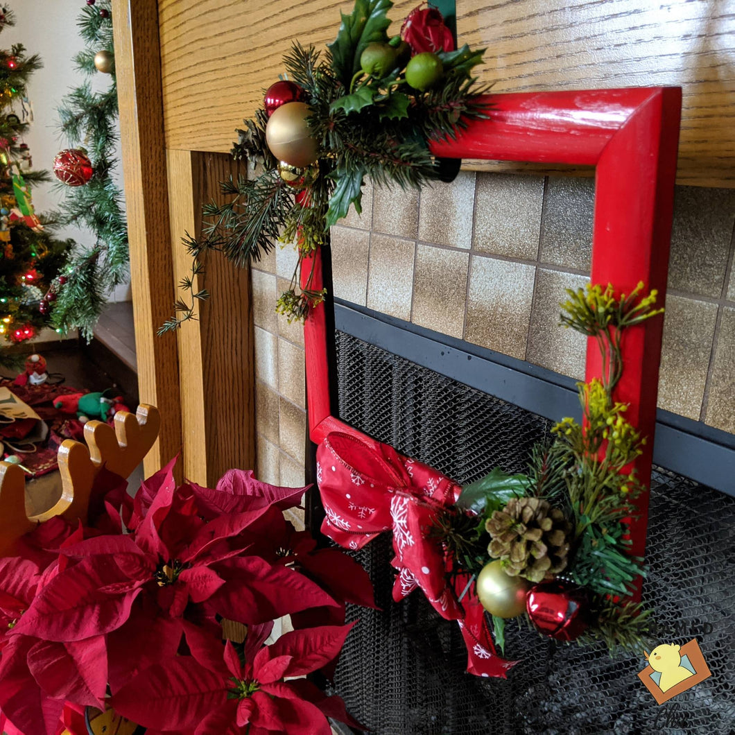 Red Frame Holiday Wreath