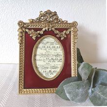 Load image into Gallery viewer, Red and Gold Roses Tabletop Frame