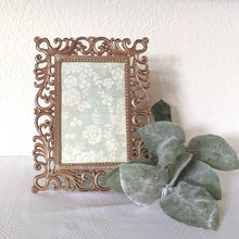 Load image into Gallery viewer, Vintage Rococo Style Rose Gold Frame