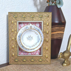 Tea Time Vintage Frame Wall Art