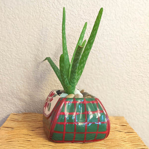 Ceramic Holiday Purse Planter