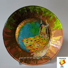 Load image into Gallery viewer, FRAMED CHIC |Original art decoupage plate. Jewelry holder. Decorative display plate.