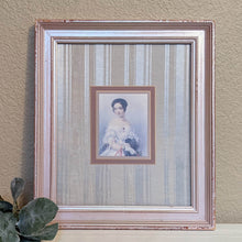 Load image into Gallery viewer, Vintage portrait wall art, vintage lady portrait, vintage shabby cottage chic, upcycled picture frame | FRAMED CHIC