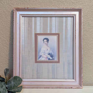 Vintage portrait wall art, vintage lady portrait, vintage shabby cottage chic, upcycled picture frame | FRAMED CHIC