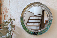 Load image into Gallery viewer, Metal mirror, metal accent mirror, unique mirror, upcycled mirror, upcycled decor | FRAMED CHIC