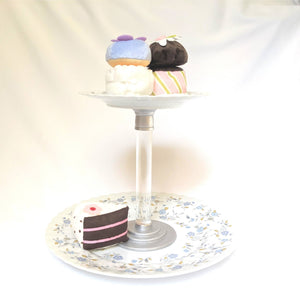 Two Tiered Flower Cake Stand