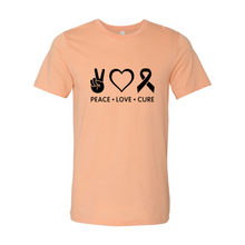 Load image into Gallery viewer, Peace Love Cure Shirt