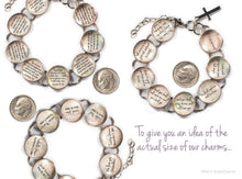Load image into Gallery viewer, I Am - Scripture Glass Charm Bible Verse Bracelet