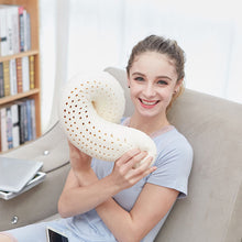 Load image into Gallery viewer, Natural Latex Massage Memory Pillow Soft U for Home and Travel