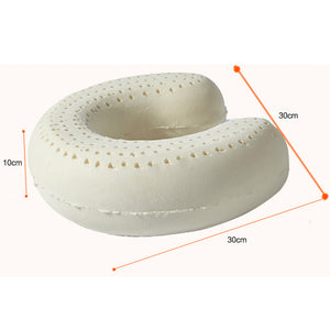 Natural Latex Massage Memory Pillow Soft U for Home and Travel
