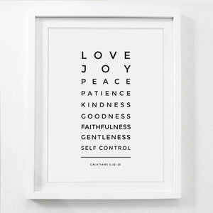 Love is Patient Kind Prints Poster Home Living