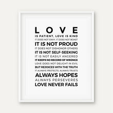 Load image into Gallery viewer, Love is Patient Kind Prints Poster Home Living