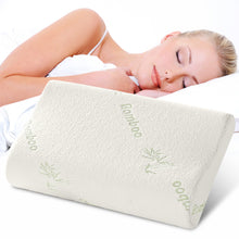 Load image into Gallery viewer, Sleeping Bamboo Pillow Memory Foam Orthopedic All Purpose