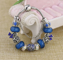 Load image into Gallery viewer, Yoga-Supreme™ Murano Glass Breast Cancer Bracelet