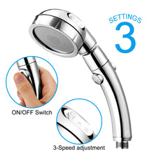 Load image into Gallery viewer, Stainless Spa Like Adjustable Water Saving Shower Head Three Modes