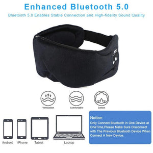 Bluetooth 5.0 Eye Mask with Mic and Handsfree Earphones