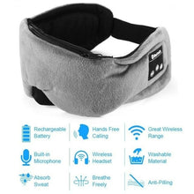 Load image into Gallery viewer, Bluetooth 5.0 Eye Mask with Mic and Handsfree Earphones