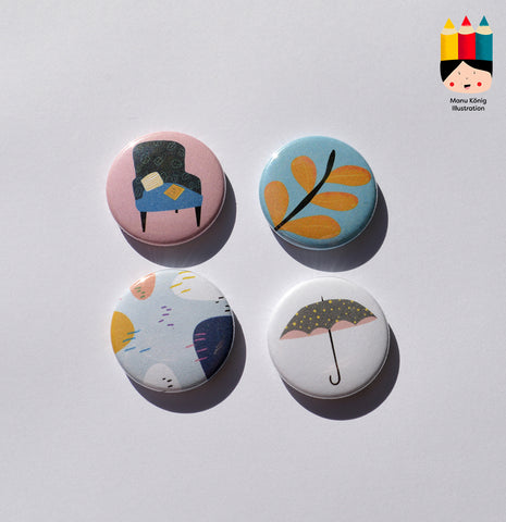 Manu König Illustration - Herbstbuttons