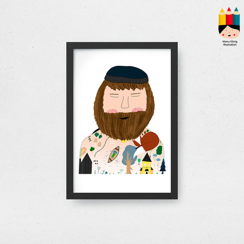 Manu König Illustration - James / PRINT