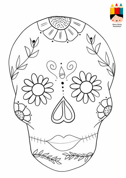 Manu König Illustration - Sugar Skull