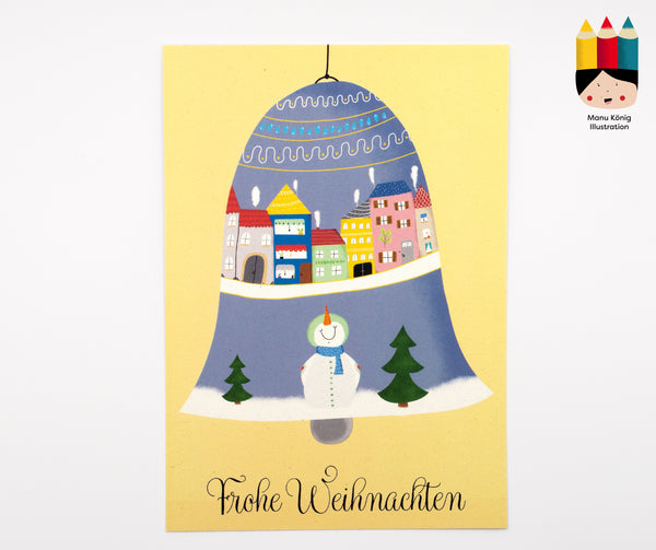 Manu König Illustration - Christbaumkugel Schneemann