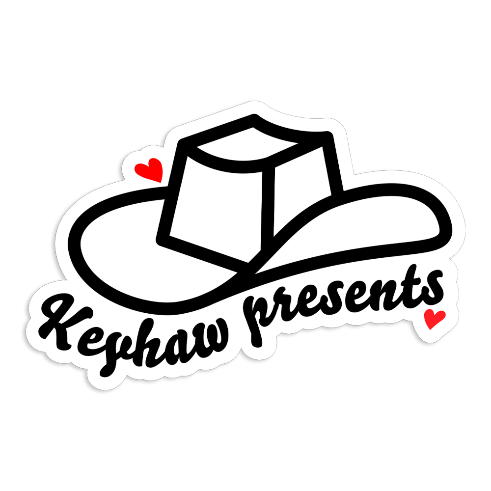 """Keyhaw Presents"" Sticker"