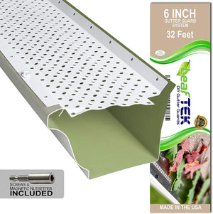 6 inch, 32 feet, white, DIY gutter guard, made in the USA
