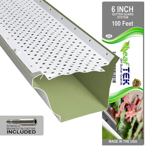 6 inch, 100 ft, white, DIY gutter guard, made in the USA