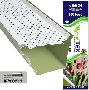 5 inch, 100 feet, white, DIY gutter guard, made in the USA