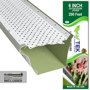 LeafTek DIY Gutter Guards | Premium Contractor Grade Aluminum | Made in the USA
