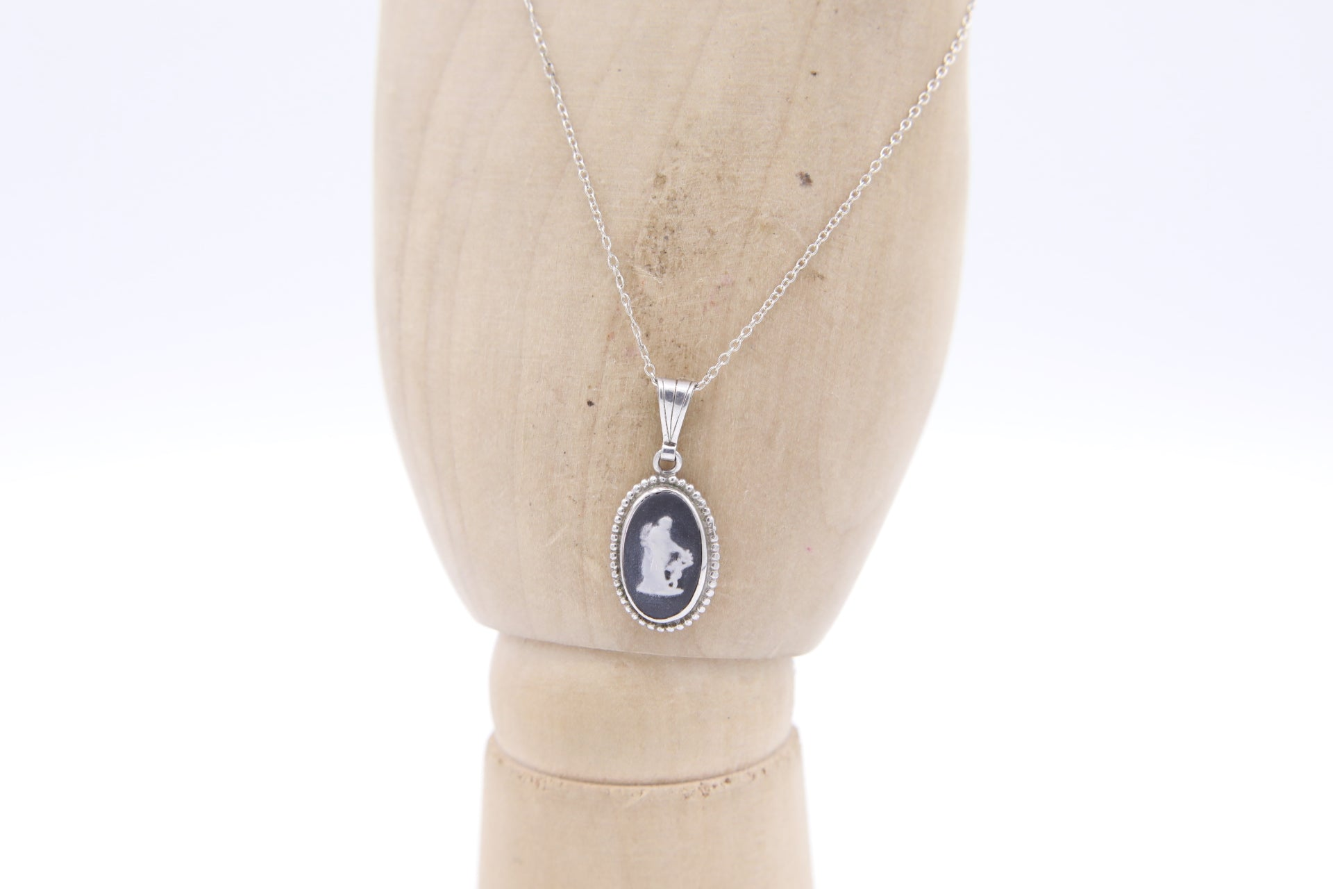 """Wedgewood cameo"" Sterling Silver Necklace"